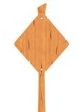 Segno rombico di legno in bianco Fotografia Stock Libera da Diritti
