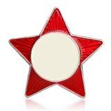 Segno rosso del metallo della stella Fotografia Stock Libera da Diritti