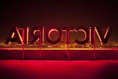 Segno rosso di Victoria fotografia stock libera da diritti