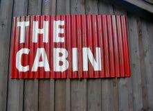 Segno rosso la cabina Immagini Stock