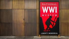 Segno rosso - museo nazionale della prima guerra mondiale a Kansas City Fotografia Stock