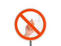 Segno rotondo non fumatori immagine stock libera da diritti