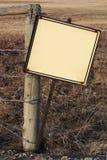 Segno rustico in bianco Immagine Stock Libera da Diritti