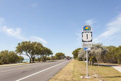 Segno scenico della strada principale di Florida Fotografie Stock