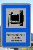 Segno scenico fotografico di punto di vista fotografia stock