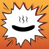 Segno semplice della salsiccia Vettore Icona di stile dei fumetti sul backgr di Pop art illustrazione vettoriale