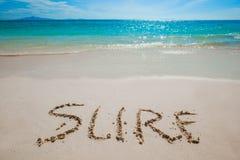 Segno sicuro sulla spiaggia fotografia stock