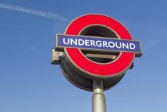 Segno sotterraneo di Londra Fotografie Stock Libere da Diritti