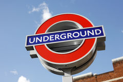 Segno sotterraneo di Londra Immagini Stock