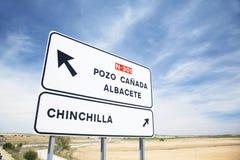 Segno spagnolo Fotografie Stock