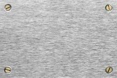 Segno spazzolato del metallo Fotografia Stock Libera da Diritti