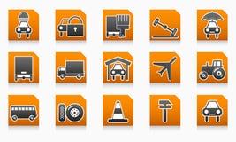 Segno stabilito del distributore di benzina del repertorio dell'icona di affari illustrazione vettoriale