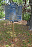 Segno storico per il san Helena Chapel di facilità fotografie stock