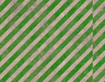 Segno a strisce verde di avvertenza Fotografie Stock
