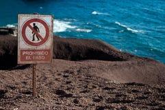 Segno su Lanzarote Immagini Stock Libere da Diritti