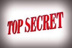 Segno top-secret rosso Fotografie Stock