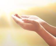 Segno umano delle mani Fotografie Stock
