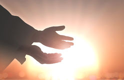 Segno umano delle mani Fotografia Stock Libera da Diritti