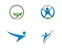 Segno umano di logo del carattere illustrazione vettoriale
