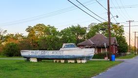Segno unico Montgomery Alabama della barca Fotografia Stock