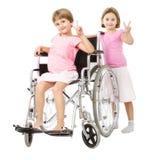 Segno v di handicap per la vittoria immagine stock