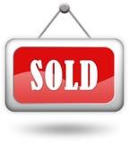 Segno venduto Fotografie Stock