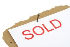 Segno venduto della proprietà Immagine Stock