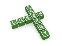 Segno verde di energia Fotografia Stock Libera da Diritti