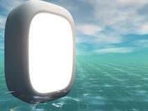 Segno verticale del tubo con la priorità bassa di 3D Grunge Fotografia Stock