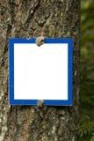 Segno vuoto Fotografie Stock