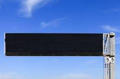 Segno vuoto dell'autostrada elettronica Fotografia Stock Libera da Diritti