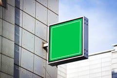 Segno vuoto verde immagini stock