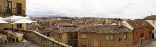 Segobia著名市在西班牙 库存图片