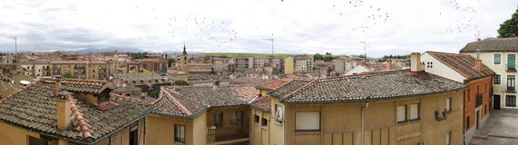 Segobia著名市在西班牙 库存照片