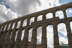 Segovia famous aqueduct in Spain. Royalty Free Stock Image