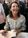 Segolene Royal alla fiera di libro di Parigi fotografie stock