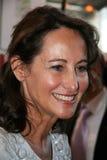 Segolene Royal alla fiera di libro di Parigi immagini stock
