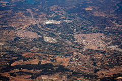 Segorbe and Altura villages aerial in Castellon Royalty Free Stock Photography