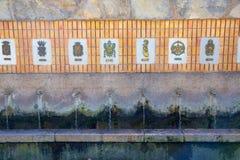 Segorbe fuente de los 50 canos fountain Castellon Spain Royalty Free Stock Image