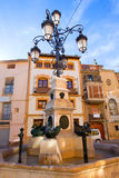 Segorbe Plaza Cueva Santa square Castellon at Spain Royalty Free Stock Photos