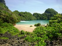 Segoro anakan beach Royalty Free Stock Images