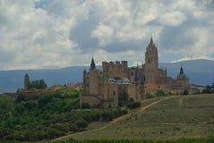 Segovia城堡 免版税库存照片