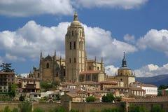 Segovia大教堂 库存照片