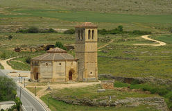 Segovia教会La维拉Cruz 免版税库存照片