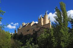 Segovia,西班牙 城堡segovia 免版税库存图片