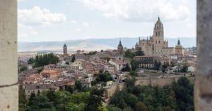 Segovia άποψη Στοκ Εικόνα