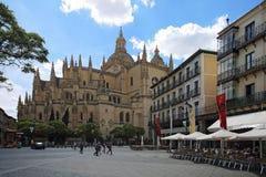 Segovia, Ισπανία, 9 Μαΐου, 2017 Δήμαρχος Plaza Segovia Στοκ Φωτογραφίες