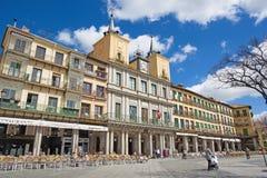 SEGOVIA, ΙΣΠΑΝΙΑ: Το τετράγωνο δημάρχου Plaza, η παλαιά πόλη Στοκ Εικόνες