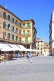 segovia 西班牙 都市的横向 广场市长 库存图片