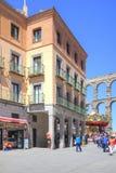 segovia 西班牙 都市的横向 库存图片